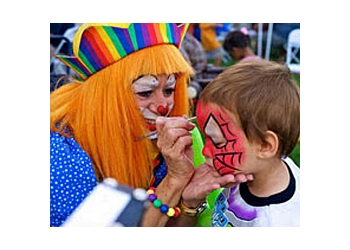 Moreno Valley face painting Petals the Clown & Friends
