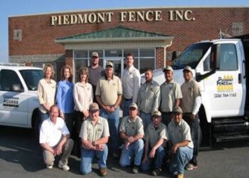 Winston Salem fencing contractor Piedmont Fence, Inc.