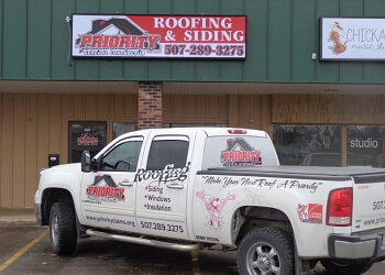 Rochester roofing contractor Priority Construction Services