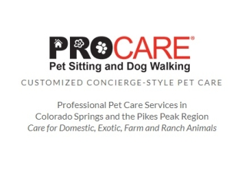 Colorado Springs dog walker ProCare Pet Sitting and Dog Walking