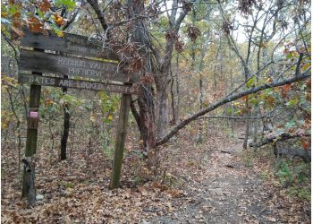 Broken Arrow hiking trail REDBUD VALLEY NATURE PRESERVE
