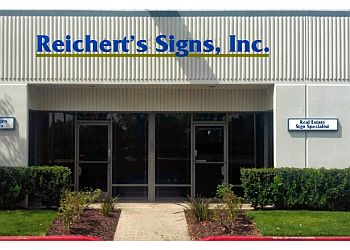 Santa Ana sign company Reichert's Signs Inc.