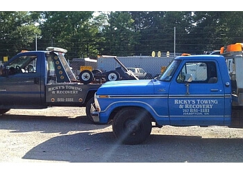 Hampton towing company Ricky's Towing & Recovery