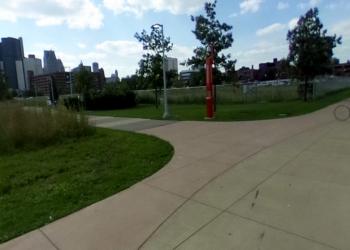 Detroit public park RiverWalk