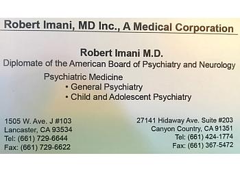 Lancaster psychiatrist Robert Imani, MD