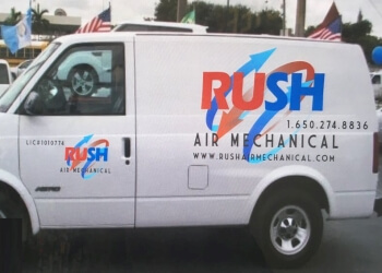 San Mateo hvac service RUSH AIR MECHANICAL LLC