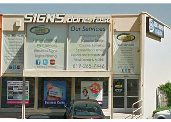 San Diego sign company Signs Done Fast Inc.