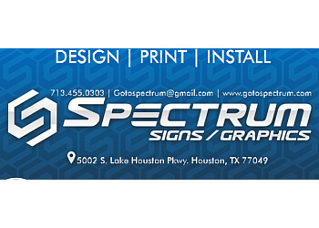 Houston sign company Spectrum Signs and Graphics