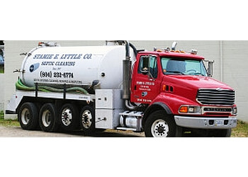 Richmond septic tank service Stamie E. Lyttle Co. and Lyttle Utilities, Inc.