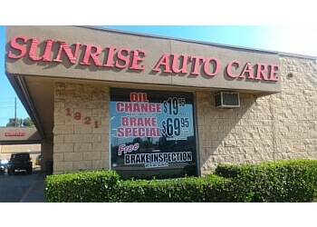 Orange car repair shop Sunrise Auto Care