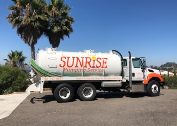 Escondido septic tank service Sunrise Pumping Service