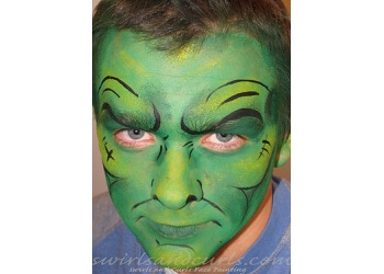 Fort Collins face painting Swirls and Curls Face Painting