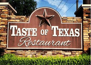 Houston steak house Taste of Texas restaurant
