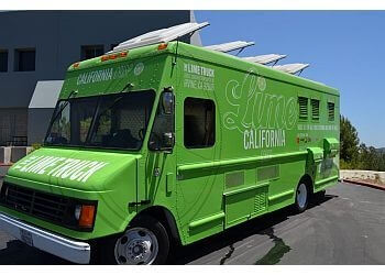 Orange food truck The Lime Truck