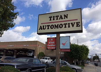 Orange car repair shop Titan Automotive