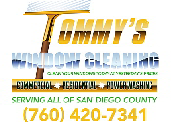 San Diego window cleaner Tommy's window Cleaning & Power Washing