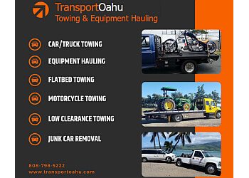 Honolulu towing company Transport Oahu Towing