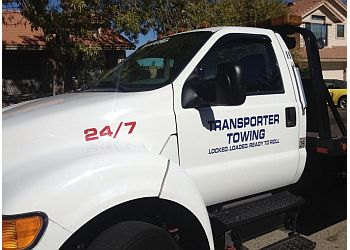 Palmdale towing company Transporter towing