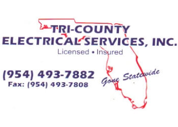 Fort Lauderdale electrician Tri County Electrical Services, Inc.