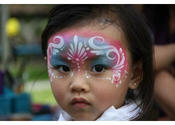 Pomona face painting Up Up and Away Face Paint