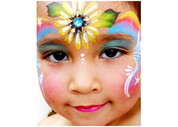 Garden Grove face painting Up Up and Away Face Painting