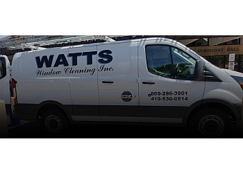 Baltimore window cleaner WATTS Window Cleaning, Inc.