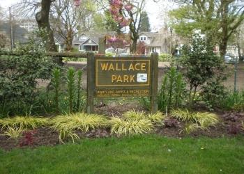 Portland public park Wallace Park