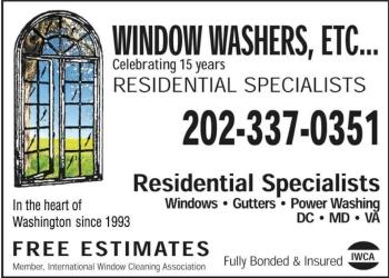 Washington gutter cleaner Window Washers Etc, LLC