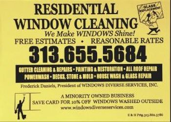 Detroit gutter cleaner  Windows Diverse Services