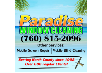 Carlsbad window cleaner paradise window cleaning